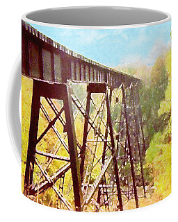 Coffee Mug featuring the digital art Train Trestle by Phil Perkins