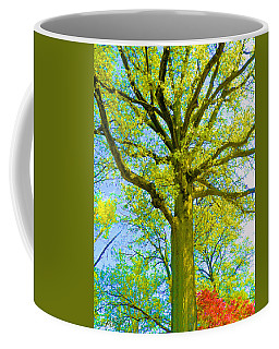 Tree And Azalea Bushes  Coffee Mug