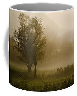 Trees And Fog Coffee Mug