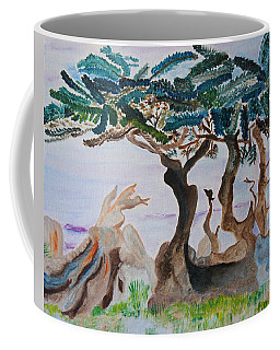 Trees By The Sea Coffee Mug by Meryl Goudey