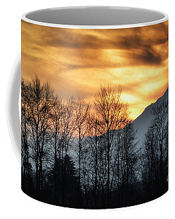 Trees With Orange Sky Coffee Mug