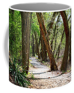 Coffee Mug featuring the photograph Trestle Walk by Kathryn Meyer