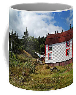 Trinity Road Laundry Coffee Mug by Leanna Lomanski