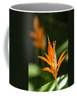 Tropical Orange Heliconia Flower Coffee Mug