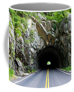 Tunnel On A Lonely Road Coffee Mug