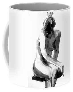 Coffee Mug featuring the drawing Turn Back by Gabrielle Wilson-Sealy