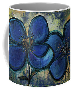 Two Blue Poppies Coffee Mug