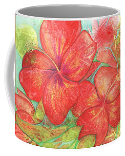 Two Hibiscus Blossoms Coffee Mug by Carla Parris
