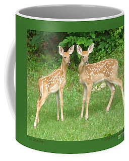 Two Little Deer Coffee Mug by Patricia Overmoyer