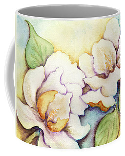 Two Magnolia Blossoms Coffee Mug by Carla Parris