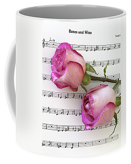 Two Red Roses And Wine Coffee Mug