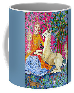 Unicorn And The Lady Coffee Mug