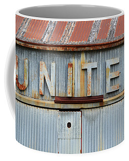 United Rusted Metal Sign Coffee Mug