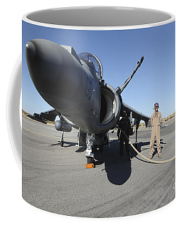 U.s. Marine Corps Air Crewmen Refuel An Coffee Mug