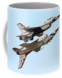 Usaf Thunderbirds Display Pair Coffee Mug by Ken Brannen