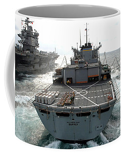 Usns Supply Conducts A Replenishment Coffee Mug