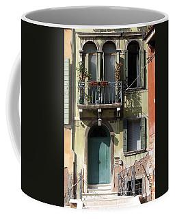 Coffee Mug featuring the photograph Venetian Doorway by Carla Parris