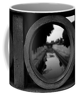 Coffee Mug featuring the photograph View From The Bridge by Nina Prommer