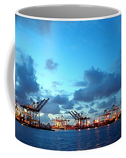 View Of Kaohsiung Harbor At Dusk Coffee Mug