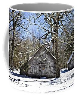 Vintage Buildings In The Winter Snow Coffee Mug
