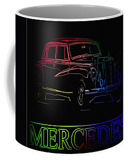 Coffee Mug featuring the photograph Vintage Mercedes by George Pedro