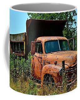 Coffee Mug featuring the photograph Vintage Old Time Truck by Peggy Franz