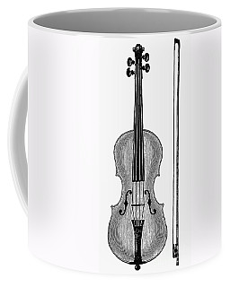 Violin And Bow Coffee Mug