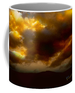 Vivachas Golden Hour Sunset Glowing Clouds  Coffee Mug