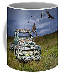 Vultures And The Abandoned Truck Coffee Mug