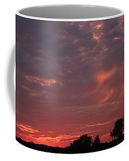 Warwickshire Sunset Coffee Mug by Linsey Williams