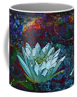 Water Lily Abstract Coffee Mug by Phyllis Denton