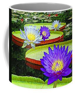 Water Lily Pads And Flowers Coffee Mug