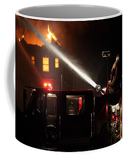 Water On The Fire From Pumper Truck Coffee Mug