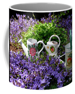 Watering Cans And Campanula Coffee Mug