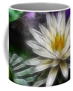 Coffee Mug featuring the digital art Waterlily In Pseudo-fractal by Lynne Jenkins