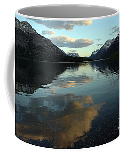 Coffee Mug featuring the photograph Waterton Lake Sunset Canada by Vivian Christopher