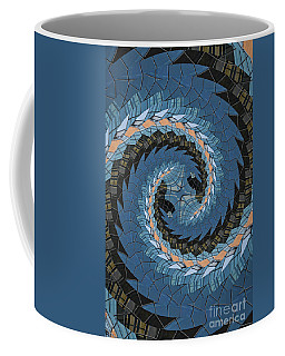 Coffee Mug featuring the photograph Wave Mosaic. by Clare Bambers