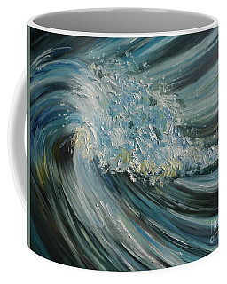Coffee Mug featuring the painting Wave Whirl by Julie Brugh Riffey