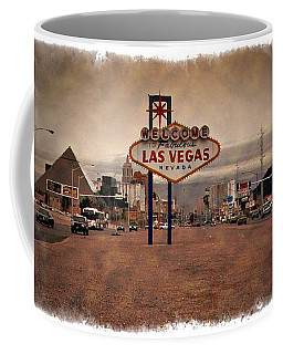 Welcome To Las Vegas Sign 1997 - Impressions Coffee Mug