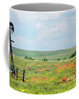 Western Kansas Wooden Windmill  Coffee Mug by Michael Flood