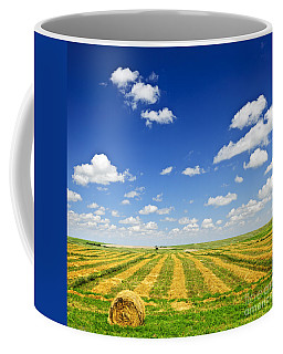 Wheat Farm Field At Harvest Coffee Mug