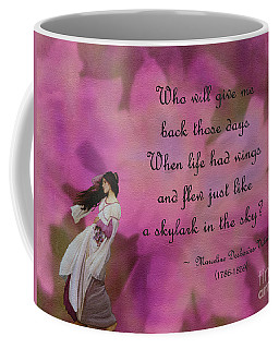 When Life Had Wings Coffee Mug by Patricia Griffin Brett
