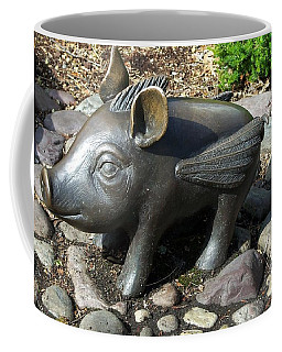 Coffee Mug featuring the photograph When Pigs Fly by Chalet Roome-Rigdon