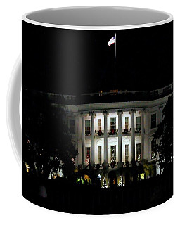 Coffee Mug featuring the photograph White House In December by Suzanne Stout