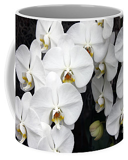 Coffee Mug featuring the photograph White Orchids by Debbie Hart