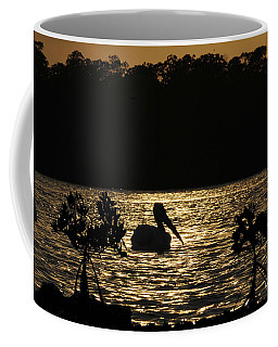 Coffee Mug featuring the photograph White Pelican Evening by Dan Friend