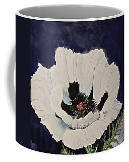 White Poppy-posthumously Presented Paintings Of Sachi Spohn  Coffee Mug