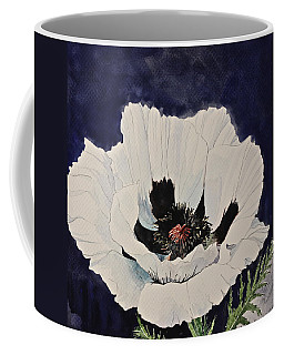 White Poppy-posthumously Presented Paintings Of Sachi Spohn  Coffee Mug