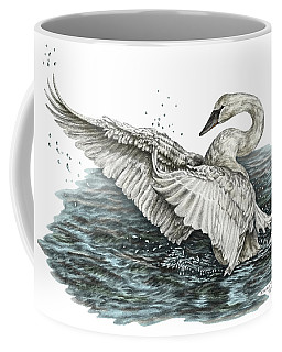 White Swan - Dreams Take Flight-tinted Coffee Mug