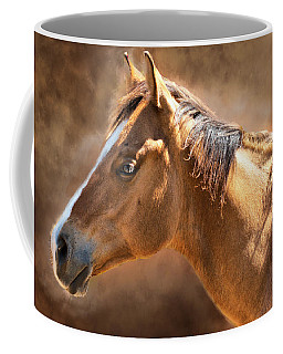 Coffee Mug featuring the digital art Wild Mustang by Mary Almond